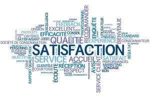 """Nuage de Tags """"SATISFACTION"""" (qualité service client garantie)"""